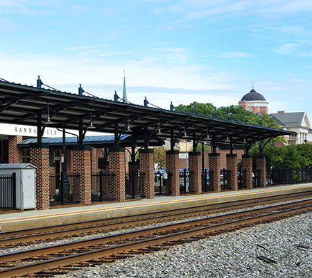 Many local projects like the canopy over the Kannapolis Station (Kannapolis, NC) platform were funded by the ARRA Photo Credit: NCDOT Rail Division