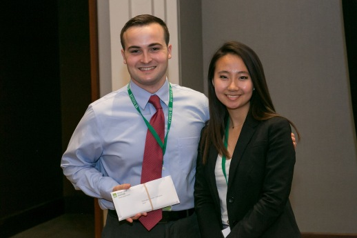Brian Vaughn and Gloria Liu represented the team at the ULI Carolinas' meeting. Credit: ULI