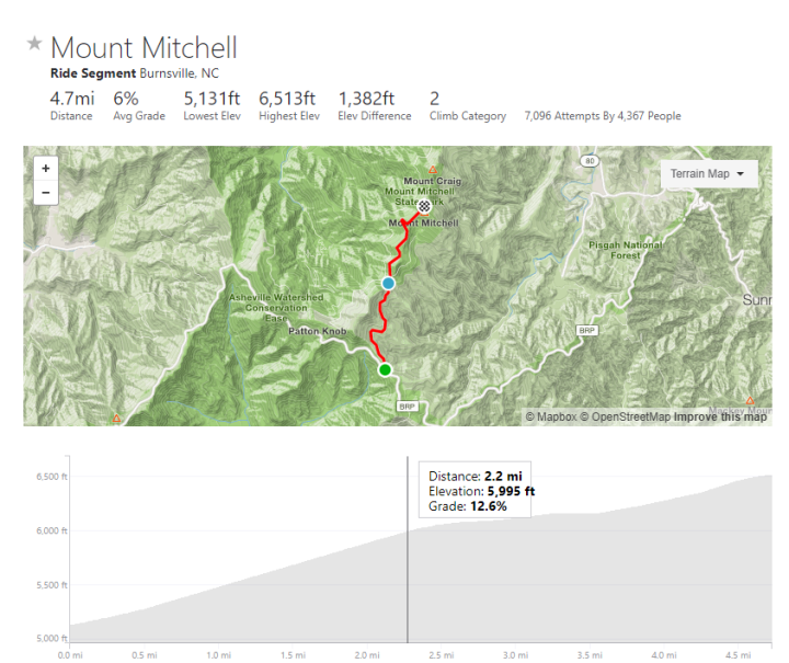 Mt Mitchell_slope
