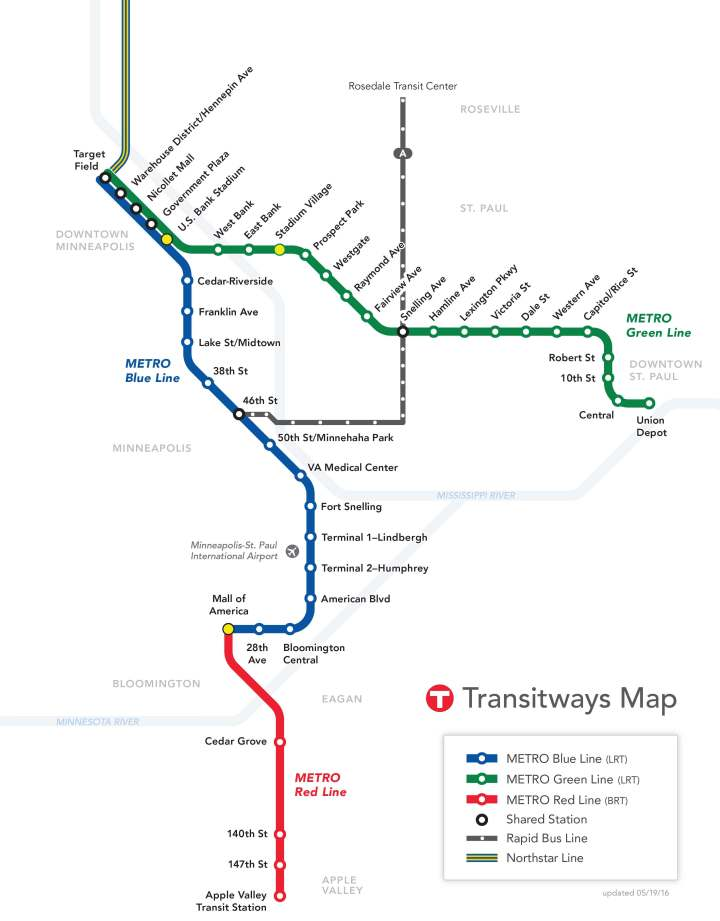 Minneapolis Transit Map (Modified)